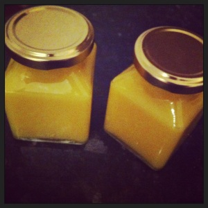 Lemon Curd in Pots