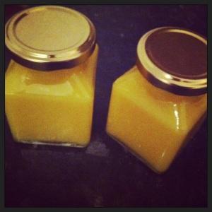 Lemon Curd in Pots
