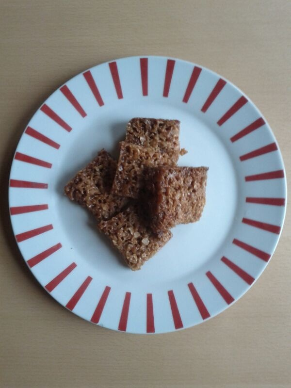 Flapjacks centred