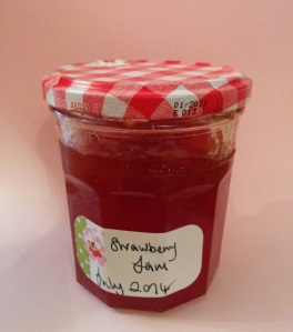 Strawberry jam jar 2