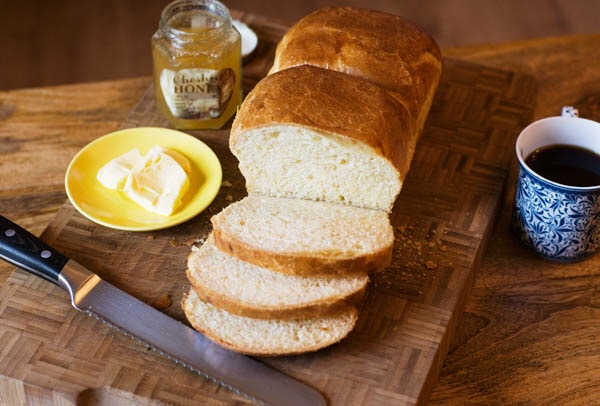 Brioche butter honey breakfast crumb