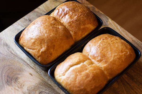 Brioche bread baked tin
