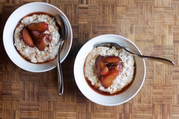 pinhead porridge oats plum compote