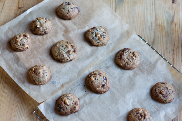 Salted chocolate hazelnut rye cookies recipe