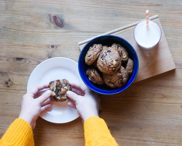 Salted chocolate hazelnut rye cookies recipe
